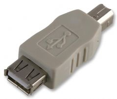PRO POWER PEC0051  Adaptor Usb Af To Bm L Grey
